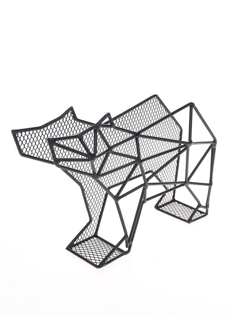Černý organizér ve tvaru medvěda Kikkerland