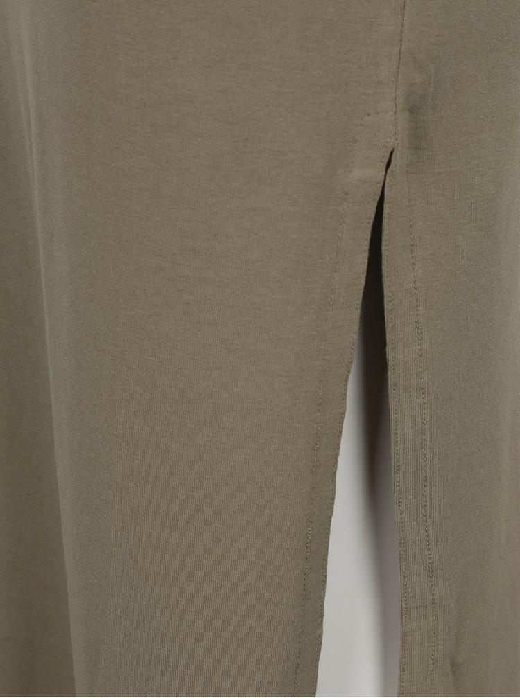 Fusta verde camuflaj VILA Honesty cu slit lateral