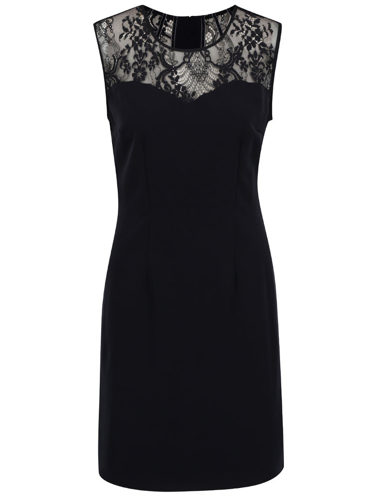 Tmavě modré šaty s krajkou VILA Heller