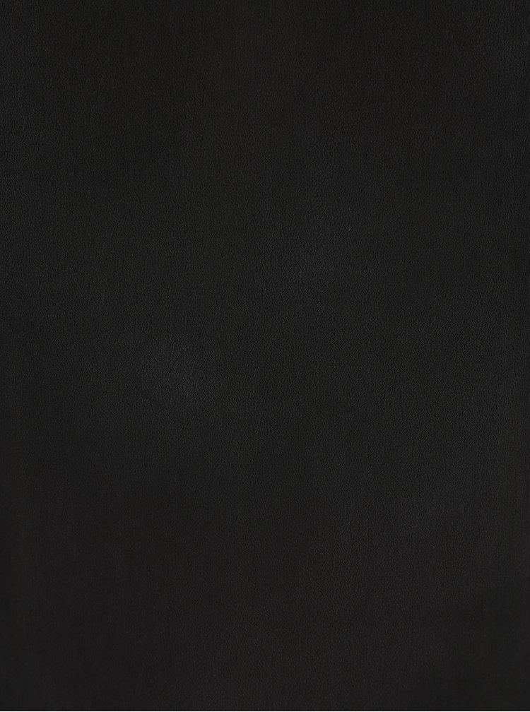 Top negru VILA Silk cu aplicații din dantelă