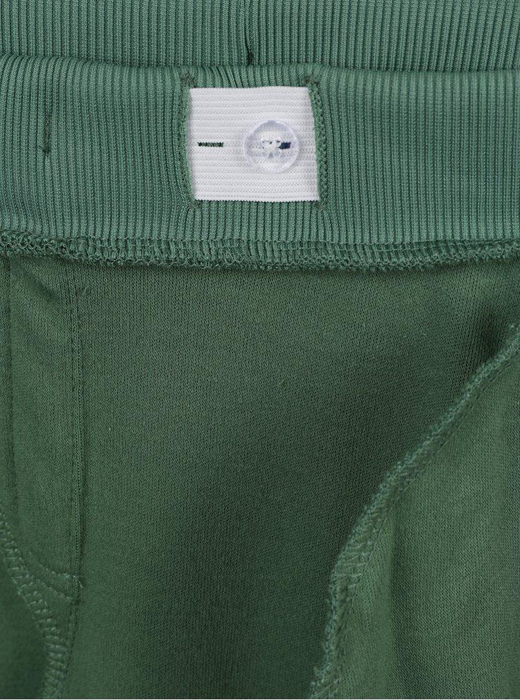 Zelené klučičí tepláky s potiskem name it Holy Poly