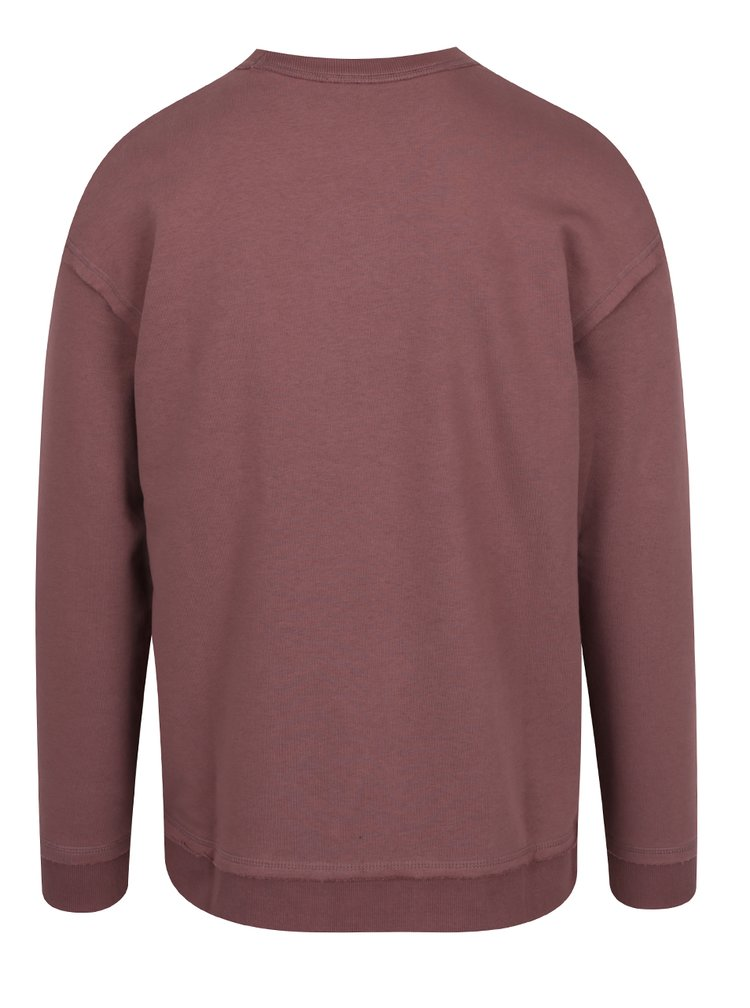 Bluză maro Jack&Jones Dropped cu terminații elastice