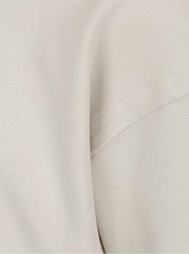 Bluză bej Jack&Jones Dropped cu terminații elastice