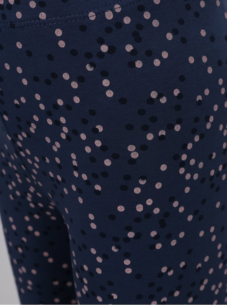 Tmavě modré holčičí puntíkované legíny name it Vivianhi