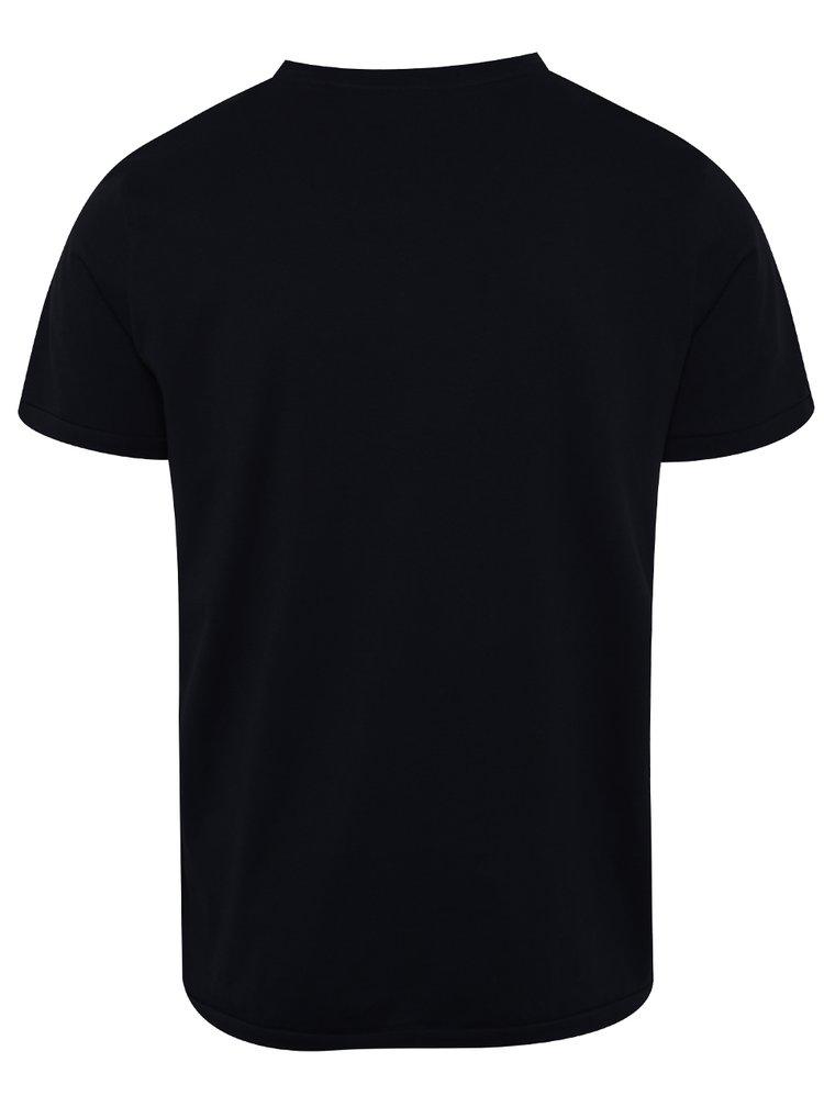 Černé triko s potiskem Jack & Jones Flipp
