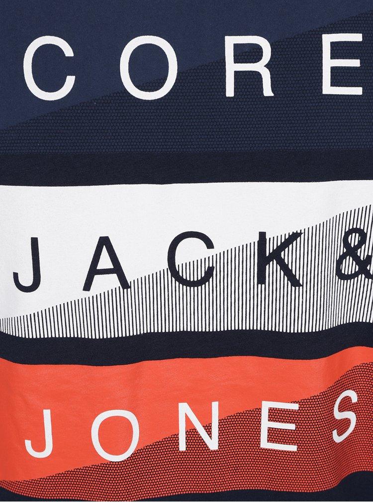 Tmavě modré triko s potiskem Jack & Jones Flipp