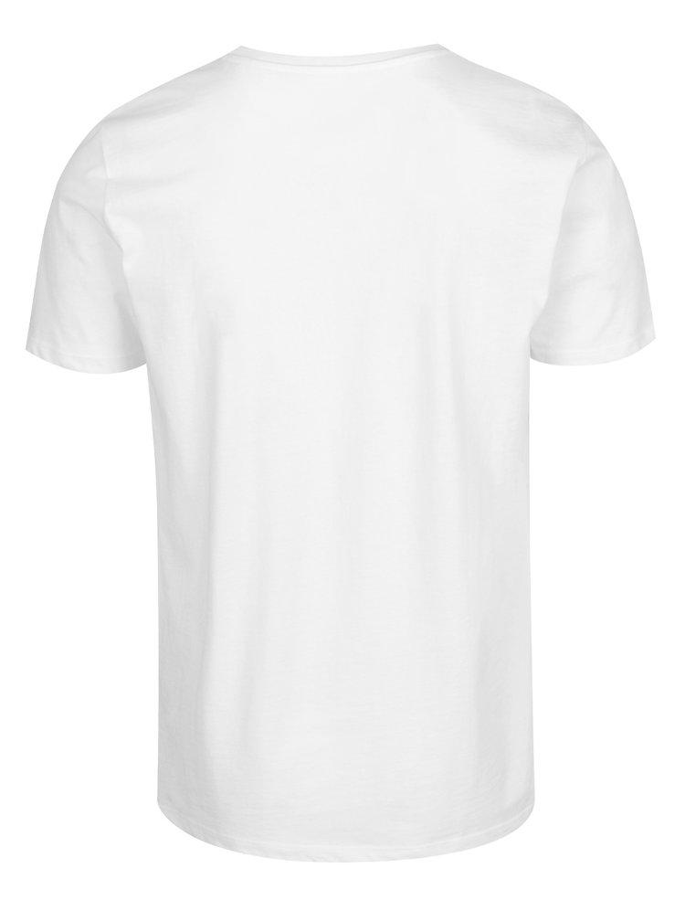 Tricou alb  Jack & Jones Flipp cu imprimeu