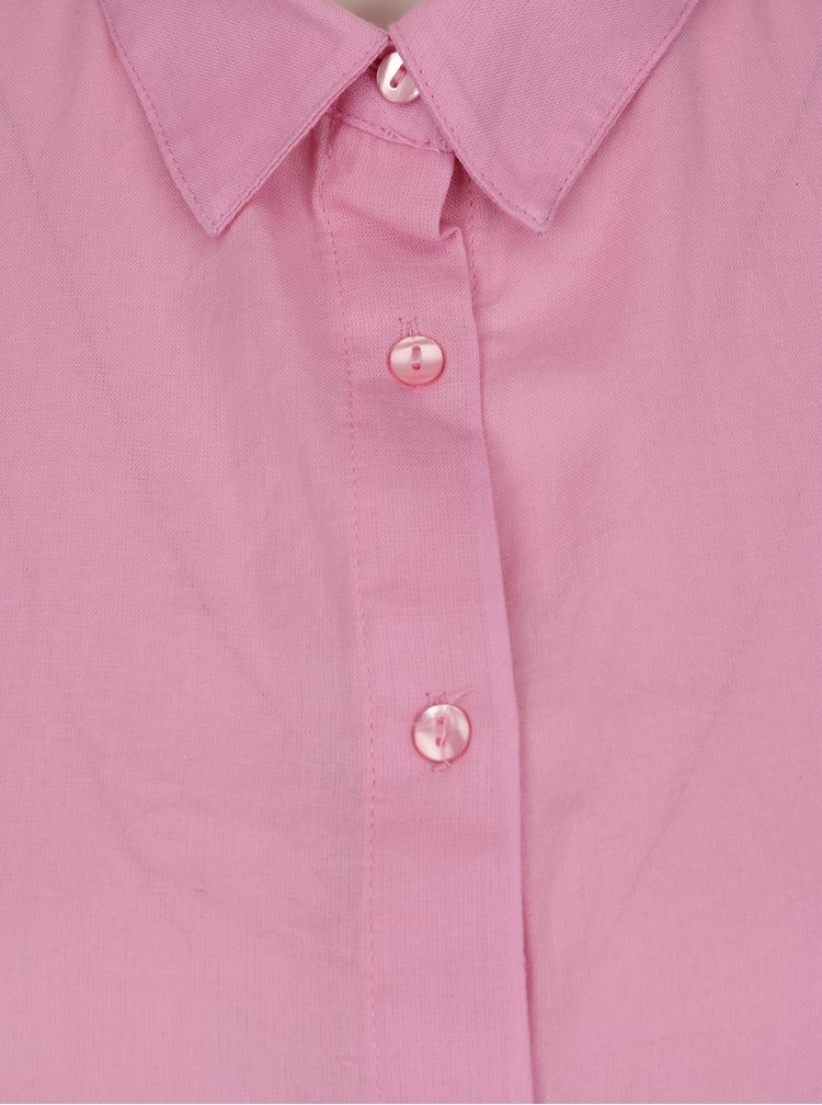 Cămașă roz cu tiv asimetric VERO MODA Isabell