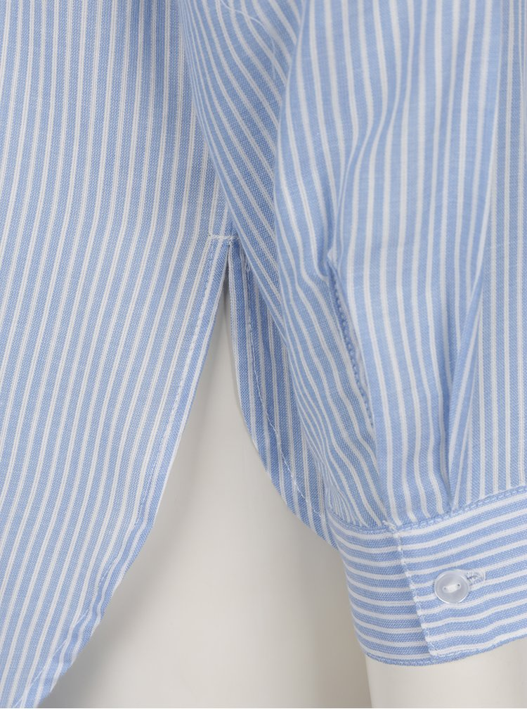 Modrá pruhovaná volná košile s dlouhým rukávem VERO MODA Isabell