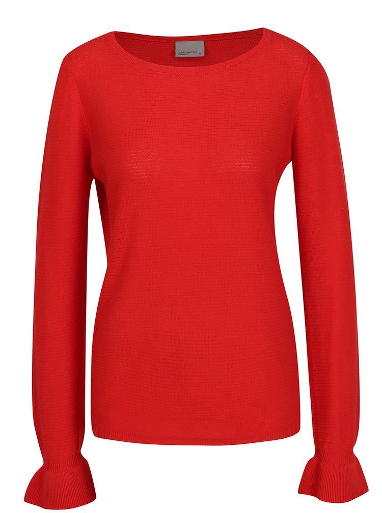 Bluza rosie din tricot VERO MODA Nice