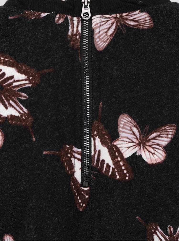 Salopetă neagră Juicy Couture cu imprimeu