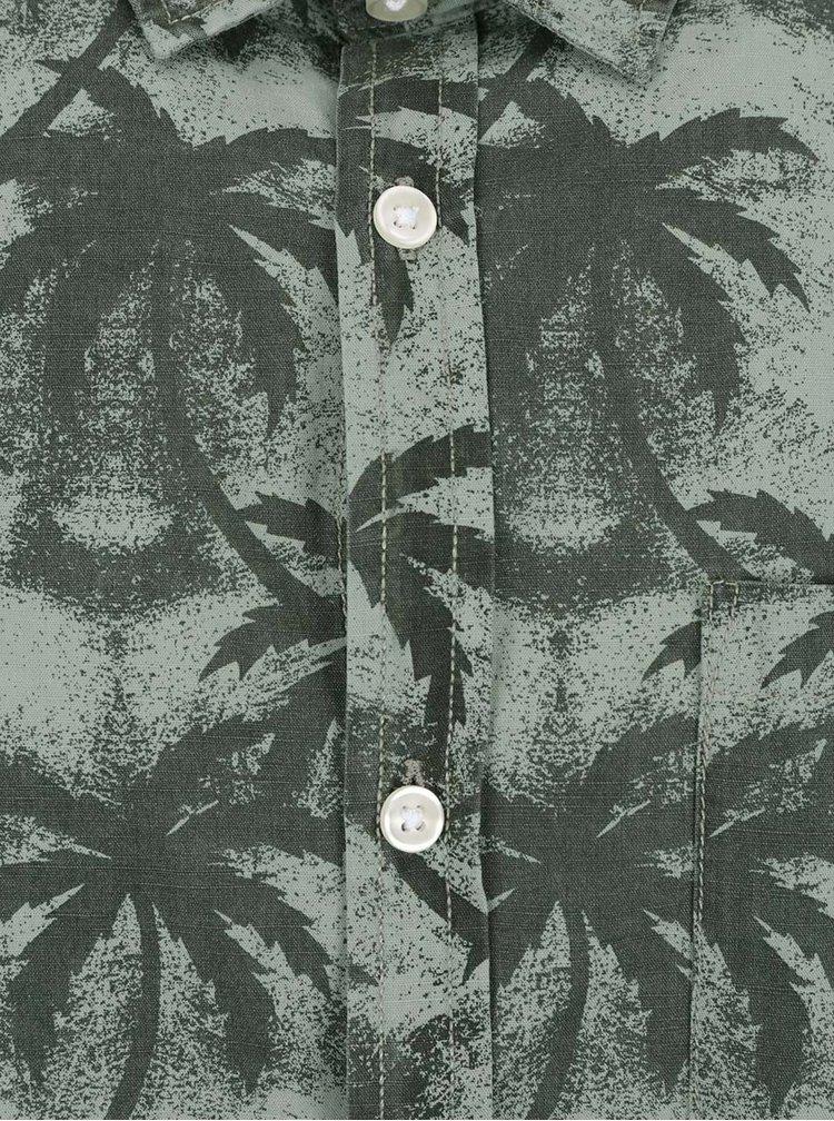 Camasa gri Jack & Jones Palm cu model