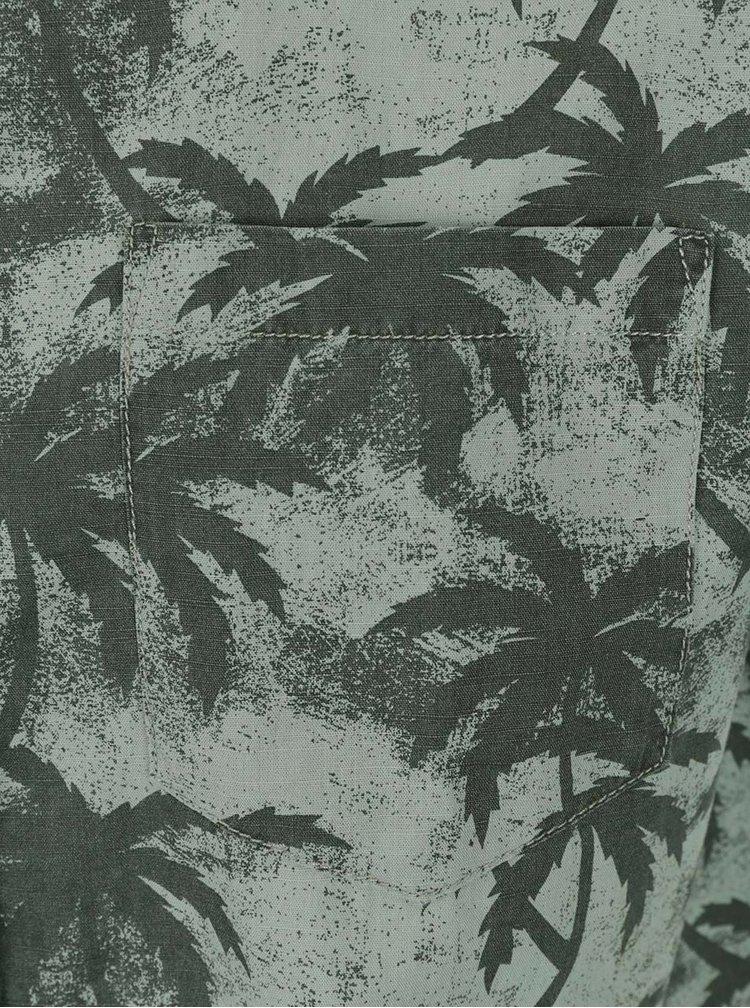 Cămașă gri Jack & Jones Palm cu model