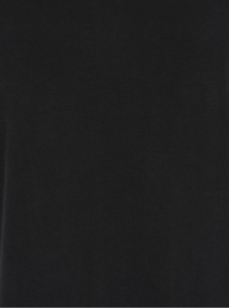 Černé šaty se šňůrkami na zádech VERO MODA Maria