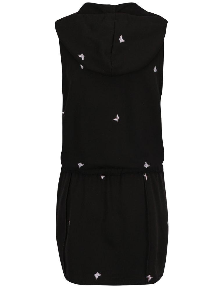 Rochie neagră Juicy Couture cu glugă