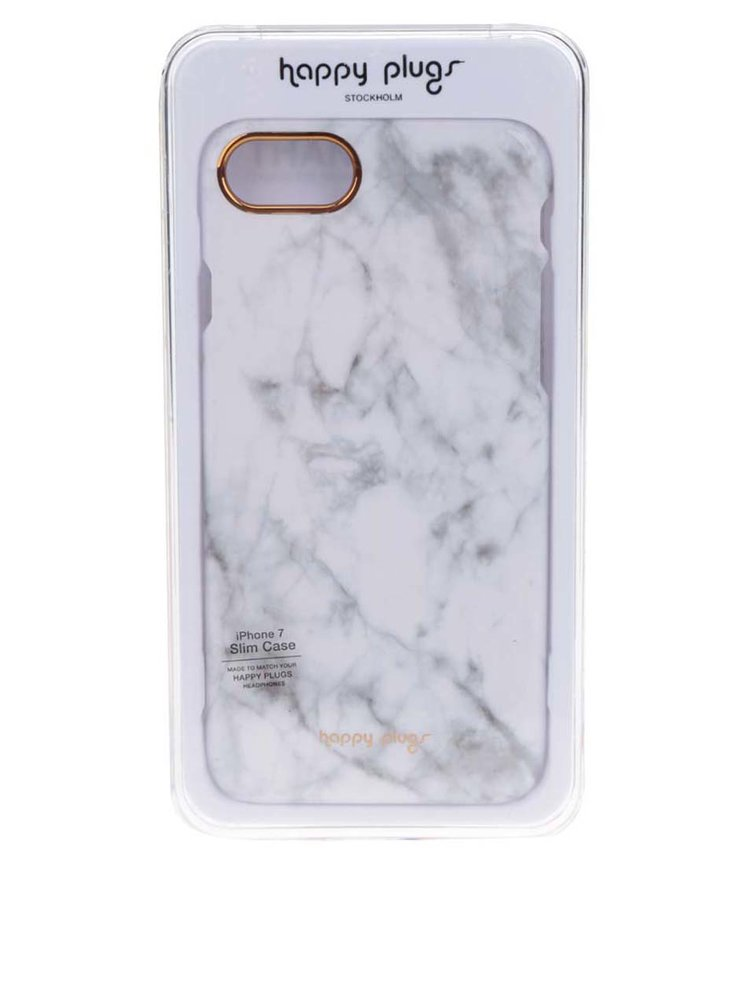Husă iPhone 7  Happy Plugs model cu marmură
