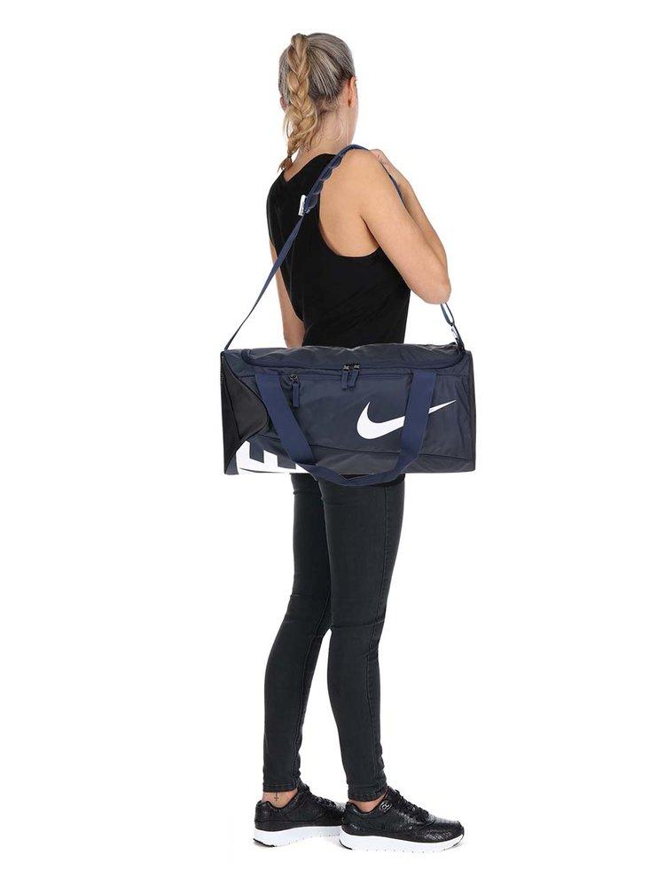 Tmavě modrá unisex sportovní voděodolná taška s potiskem Nike
