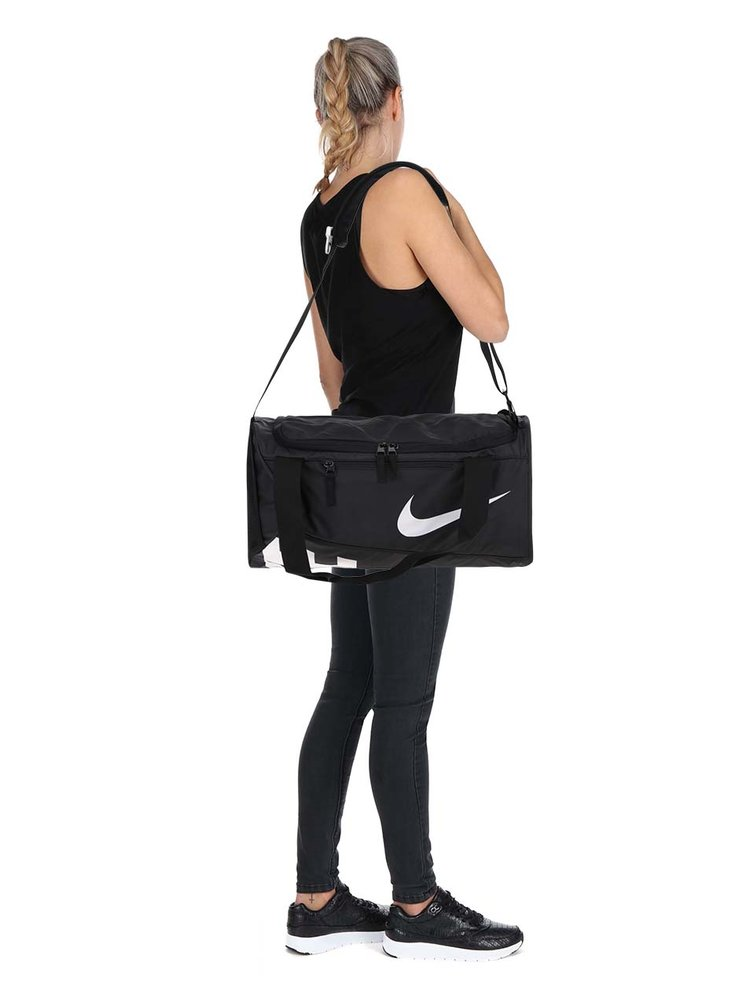 Geantă sport Nike neagră cu print