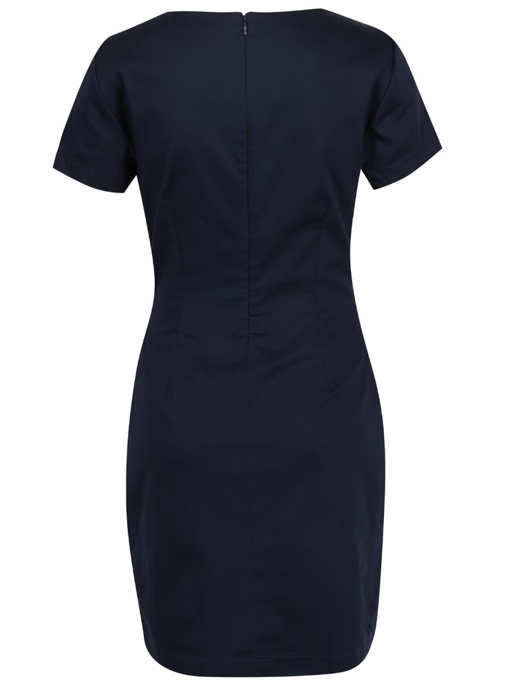 Tmavomodré šaty s krátkym rukávom VERO MODA Maya