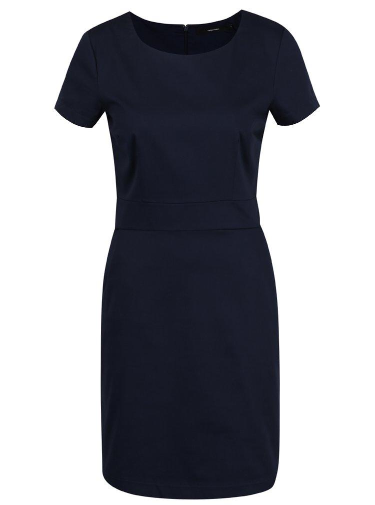 Tmavě modré šaty s krátkým rukávem VERO MODA Maya