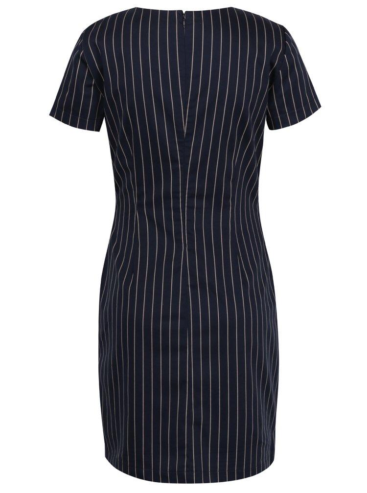 Modré šaty s krátkým rukávem a proužky VERO MODA Maya
