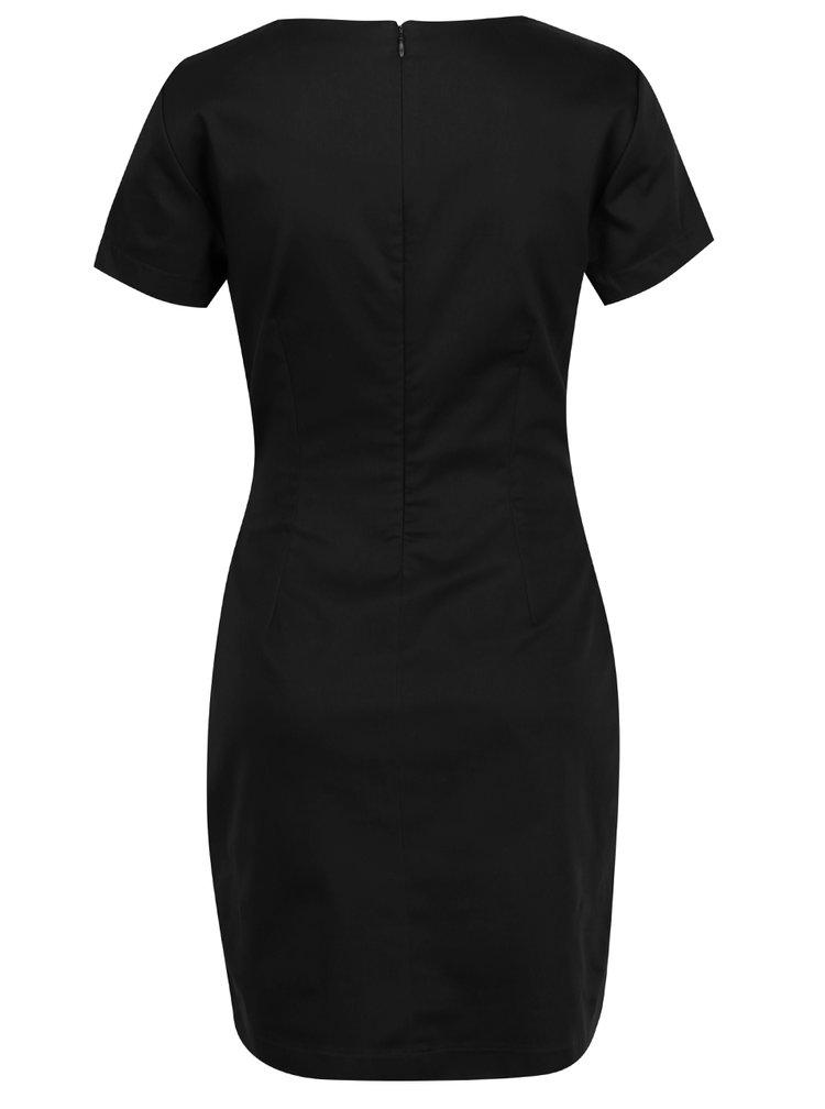 Černé šaty s krátkým rukávem VERO MODA Maya