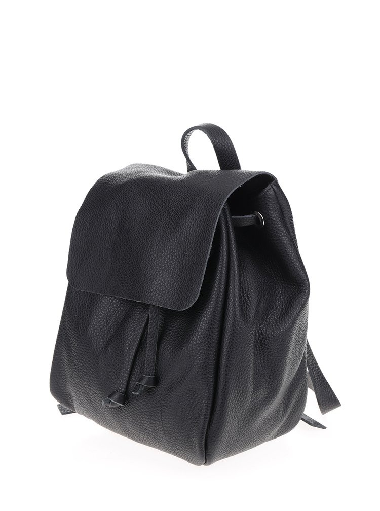 Černý dámský kožený batoh ZOOT Simple
