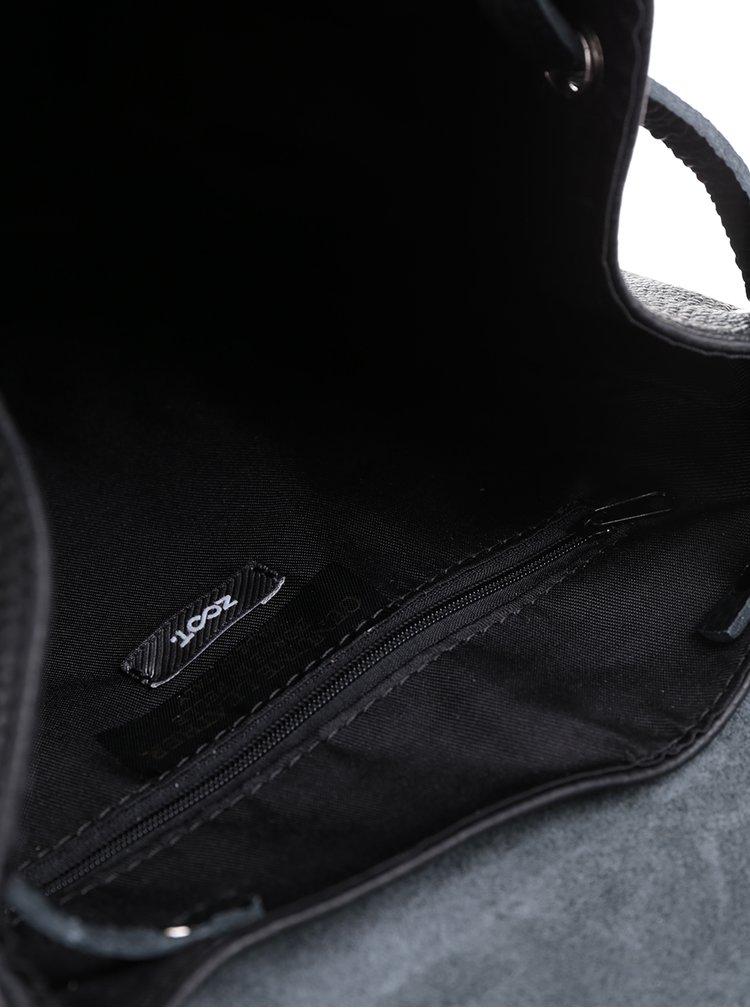 Rucsac negru din piele  ZOOT Simple