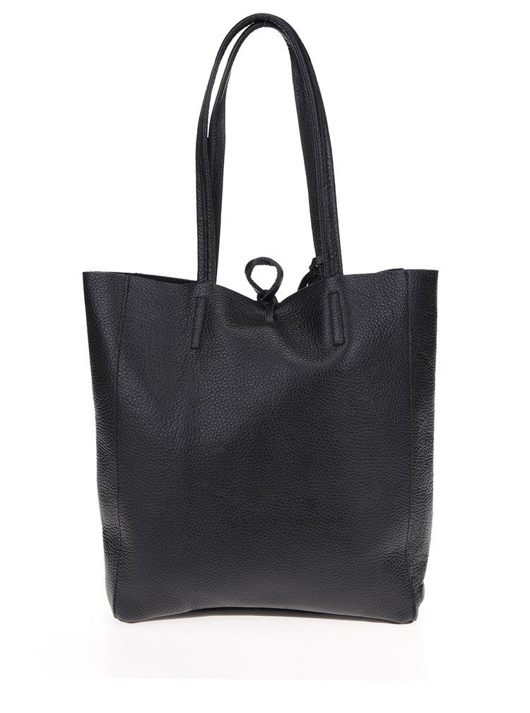 Černý kožený menší shopper s pouzdrem 2v1 ZOOT Simple