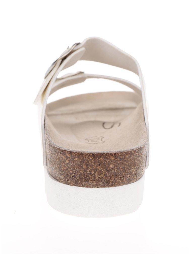 Metalické dámske papuče v zlatej farbe Snaha Lima 160