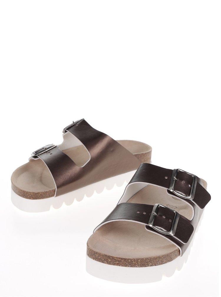 Dámské pantofle v bronzové barvě Snaha Lima 160