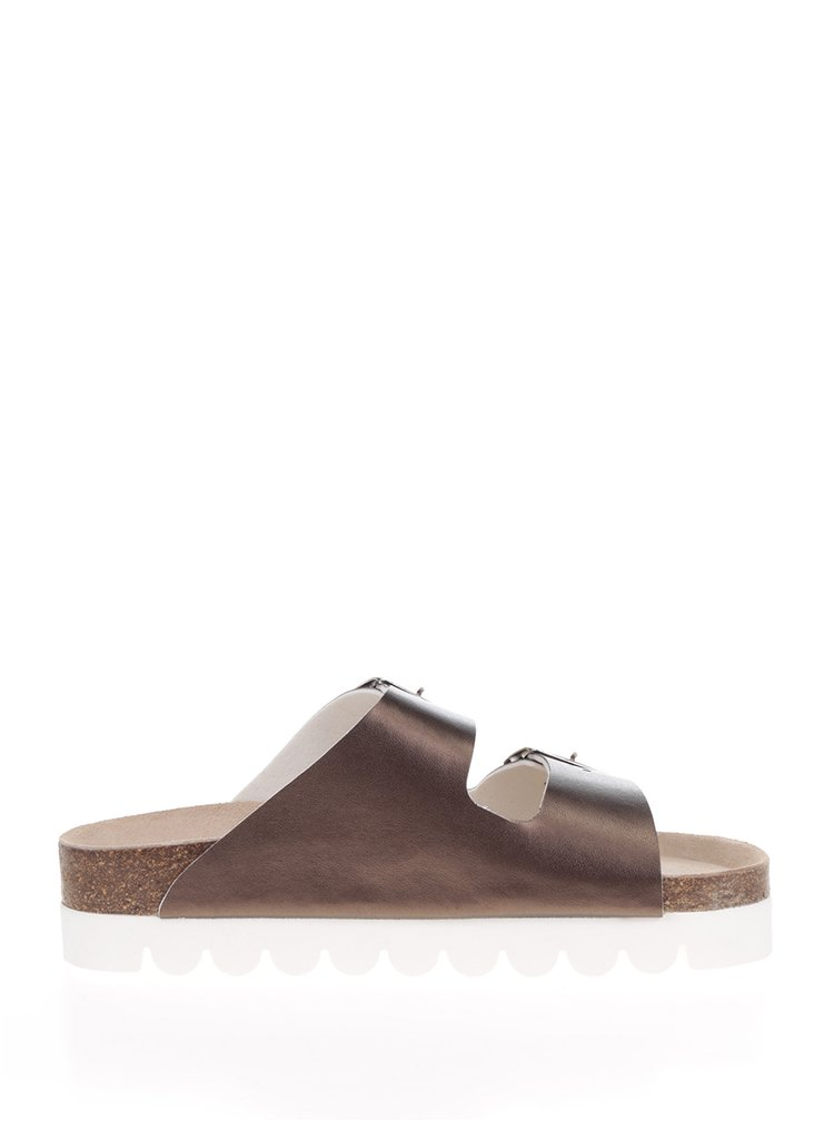 Papuci bronz Snaha Lima 160 cu talpa comoda