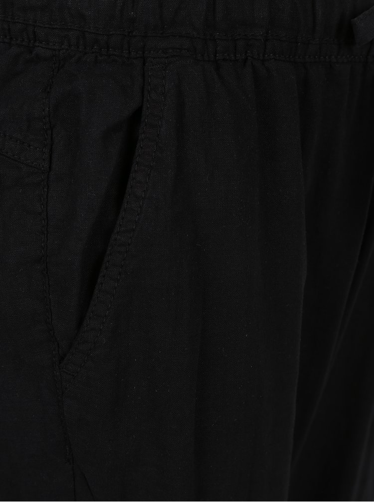Pantaloni negri din amestec de in si bumbac QS by s.Oliver