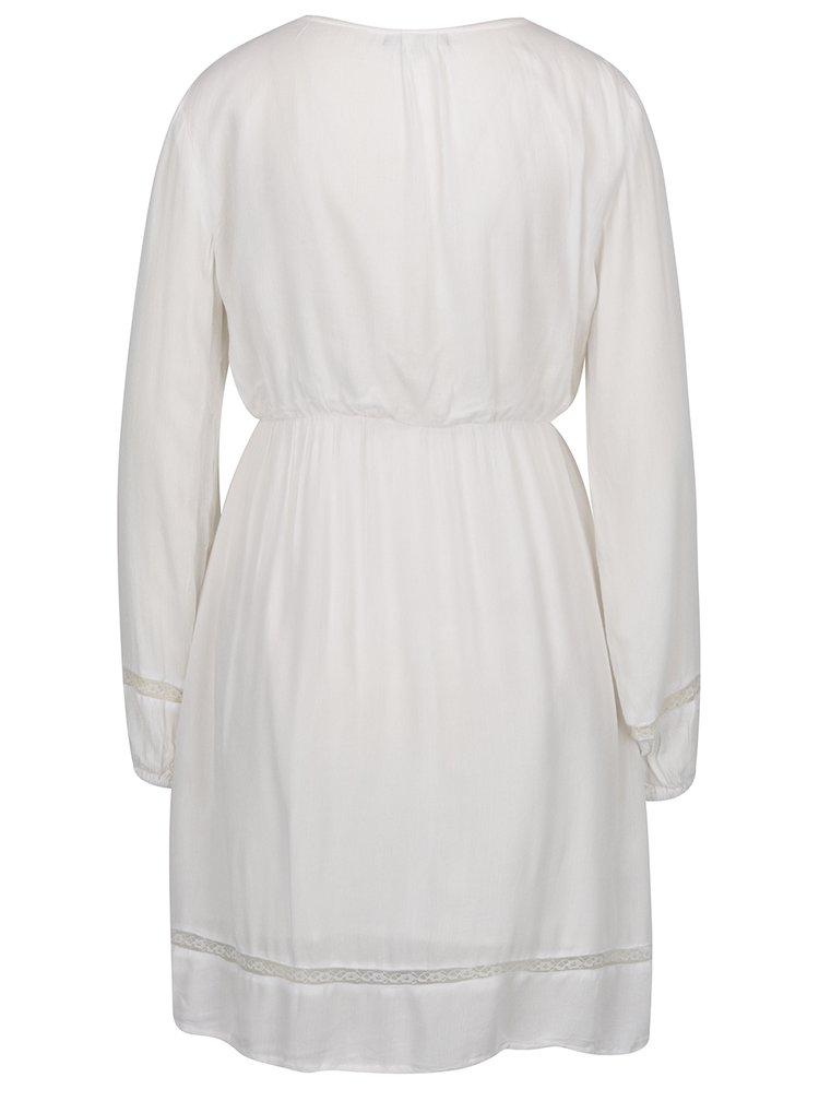 Krémové šaty s krajkovými detaily Smashed Lemon