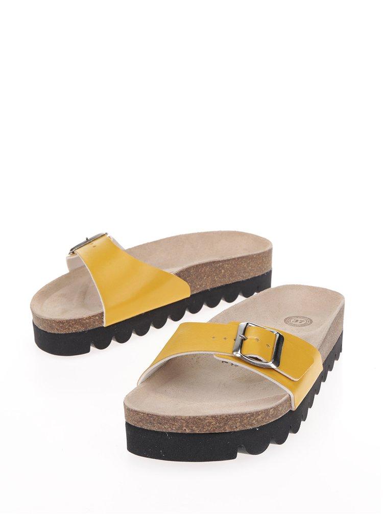 Žlté dámske šľapky Snaha Lima 150