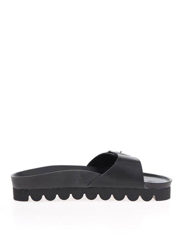 Papuci  negri Snaha Lima 150 cu talpă comodă