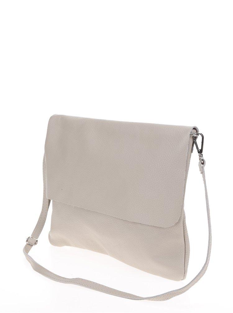 Krémová kožená crossbody kabelka ZOOT Simple