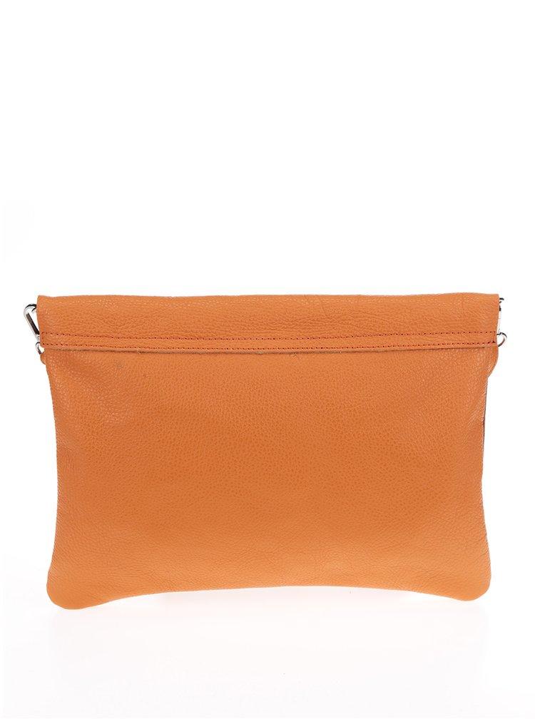 Oranžová kožená crossbody kabelka/psaníčko ZOOT Simple