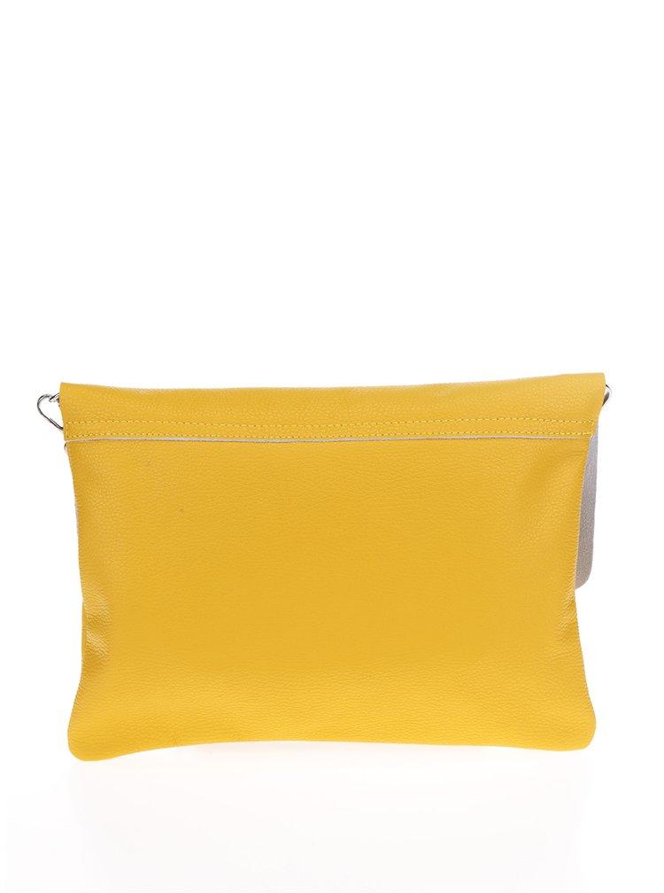 Žlutá kožená crossbody kabelka/psaníčko ZOOT Simple