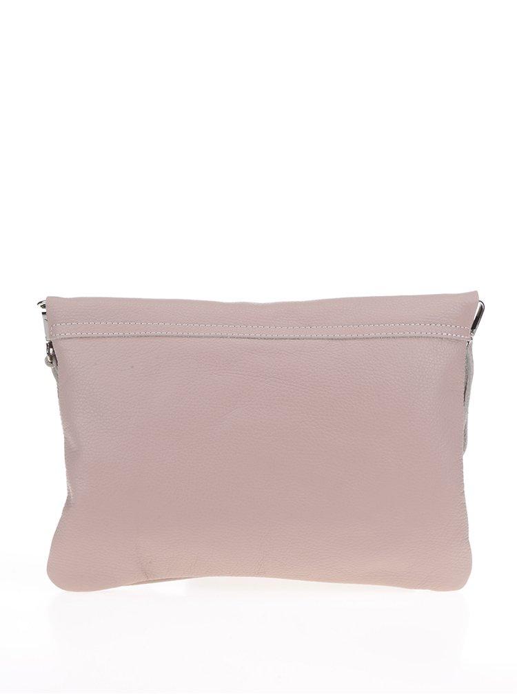 Světle růžová kožená crossbody kabelka ZOOT Simple