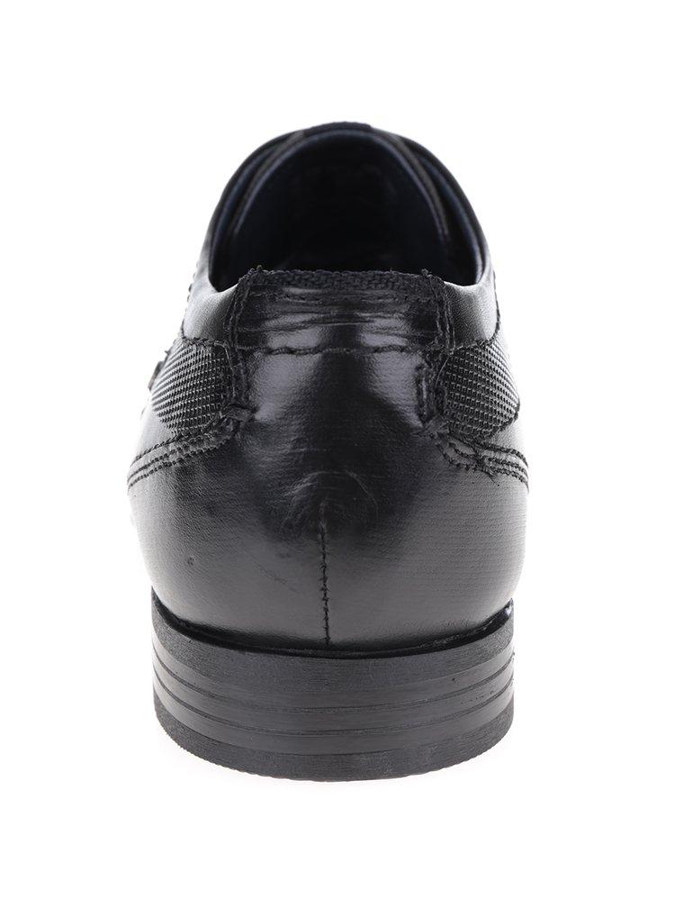 Pantofi negri din piele bugatti Mattia