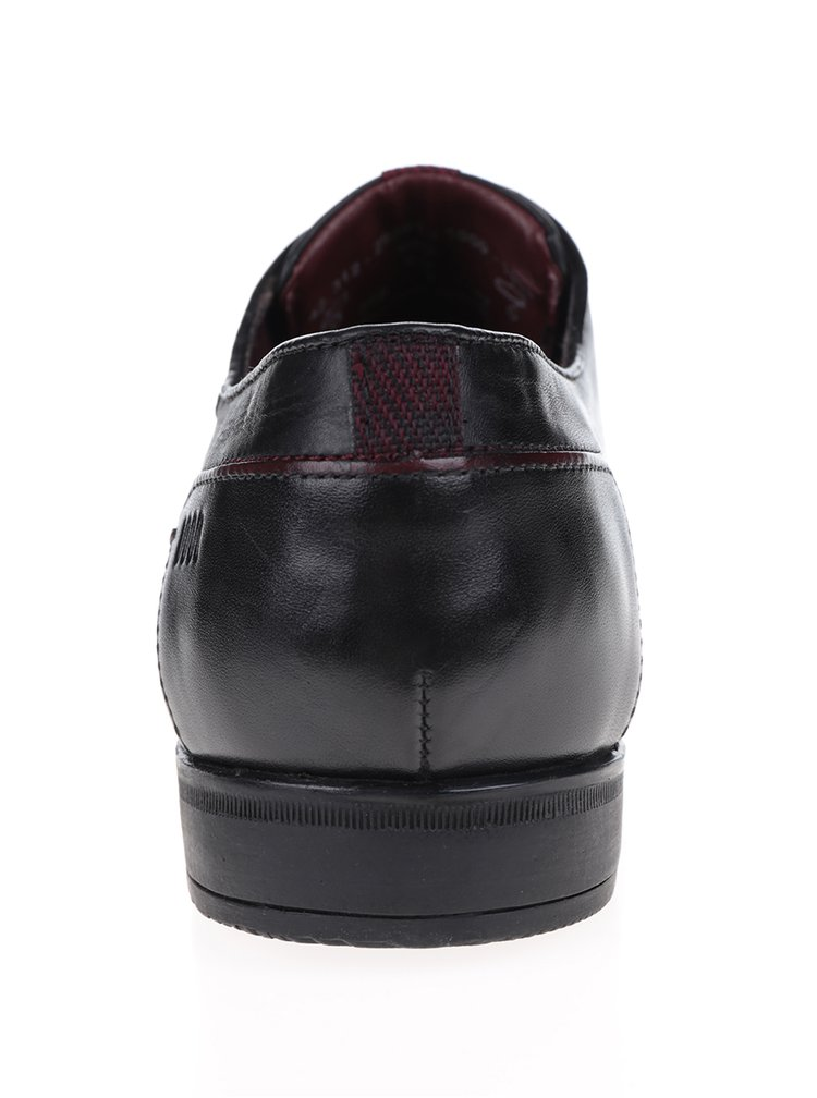 Pantofi negri din piele bugatti Jenaro