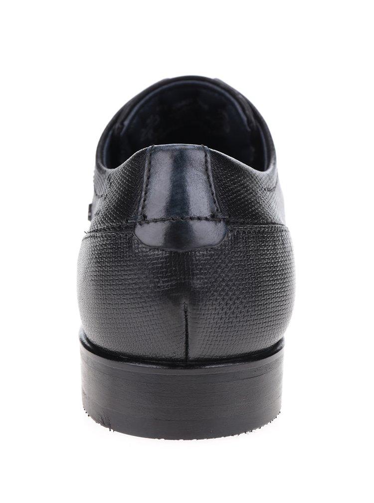 Černé pánské kožené polobotky bugatti Lando