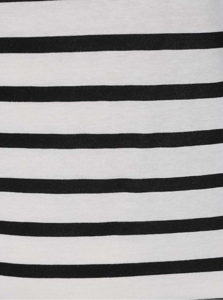 Tricou alb negru cu dungi ONLY Bone