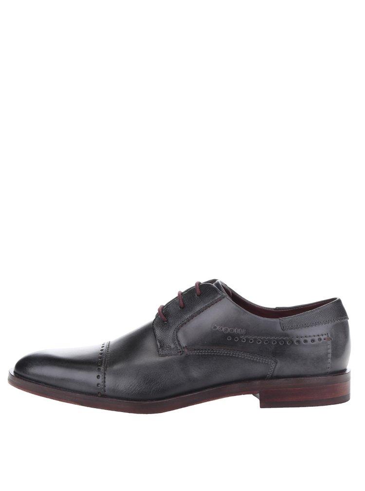 Pantofi gri inchis bugatti Rainel