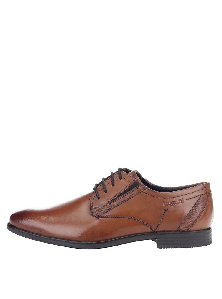 Pantofi maro din piele patinata bugatti Savio Evo