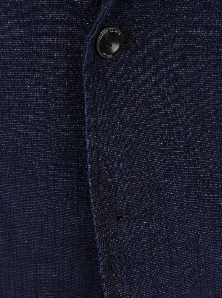 Sacou bleumarin din denim pentru bărbați s.Oliver