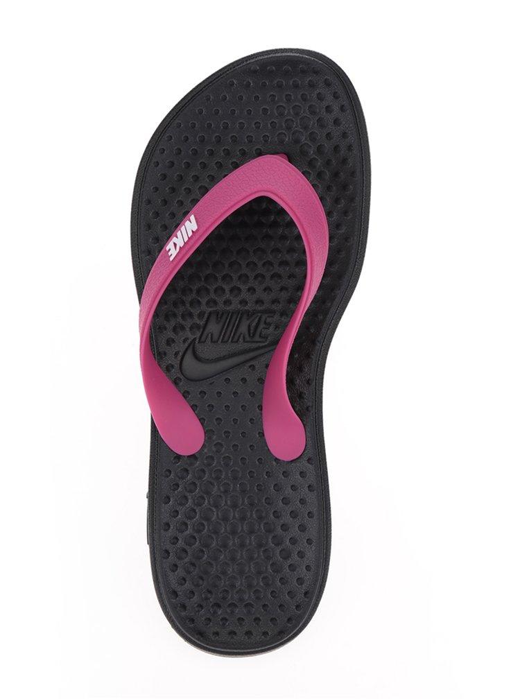 Slapi negri&roz de dama Nike Solay Thong