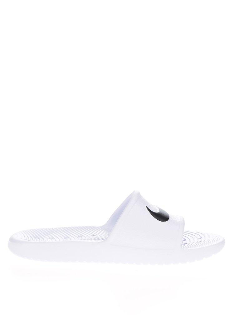 Bílé dámské pantofle s logem Nike Kawa Shower