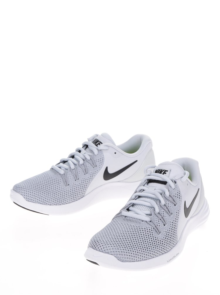 Šedé dámské perforované tenisky Nike Lunar Apparent